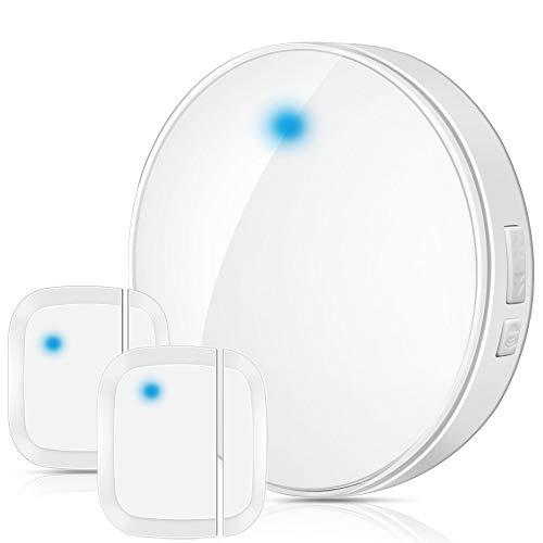 Wsdcam Door Open Chime Sensor Wireless for Business Home Store Shop - 600FT 52 Melodies Door Chime up to 110dB Loud Door Entry Alarm Doorbell Chime (2 Sensors & 1 Receiver)