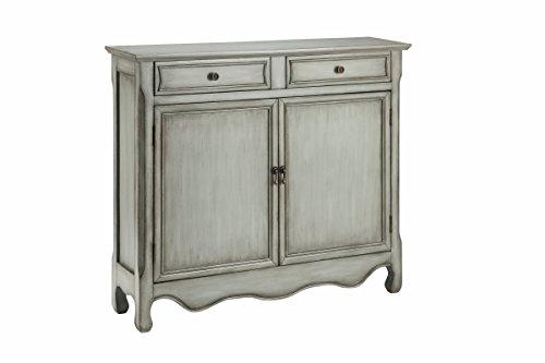 2 Door Painted Cupboard - Stein World Furniture 13016 2 Door Cupboard, Gray