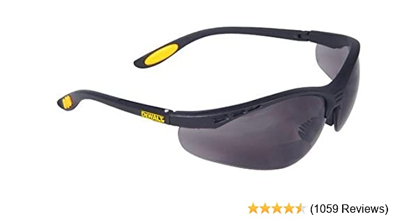 a099a93c2c69 Dewalt DPG59-215C Reinforcer Rx-Bifocal 1.5 Smoke Lens High Performance  Protective Safety Glasses with Rubber Temples and Protective Eyeglass  Sleeve - Maui ...