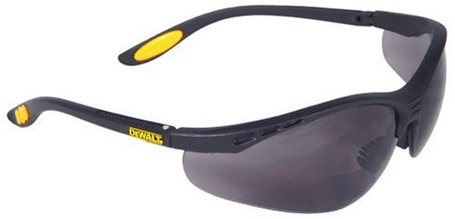 Dewalt DPG59-215C Reinforcer Rx-Bifocal 1.5 Smoke Lens High Performance Protective Safety Glasses with Rubber Temples and Protective Eyeglass Sleeve