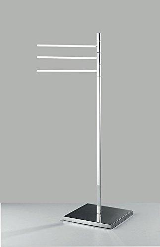 Lámpara de pie baja toallas Altura 85 cm - Base 25 x 25 cm Accesorios inodoro baño producto italiano estilo moderno: Amazon.es: Hogar