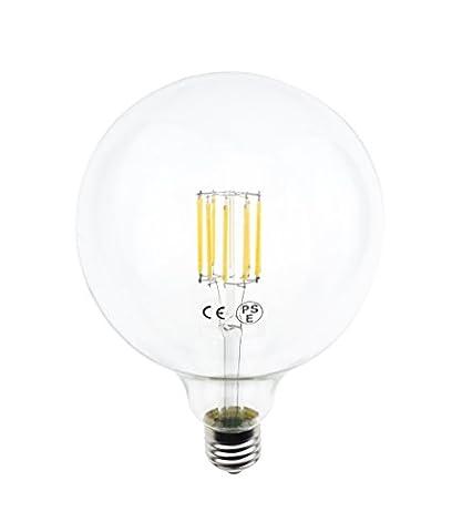 LuxVista G40 LED Globular Shape Filament Bulb 10W Edison Style LED G125 Clear Soft Warm White Globe Light Medium Screw E26 Base 100W Incandescent (100watt Edison Light Bulbs)