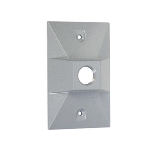 Taymac LV110S One-Hole Rectangular Metal Lampholder Cover, Gray - Metal Lampholder
