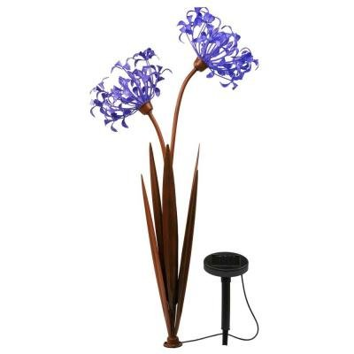 Solar LED Twin Head Agapanthus Decor Pathway Light