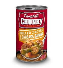 CAMPBELLS CHUNKY SOUP GRILLED CHICKEN AND SAUSAGE GUMBO 18 OZ EACH (1)