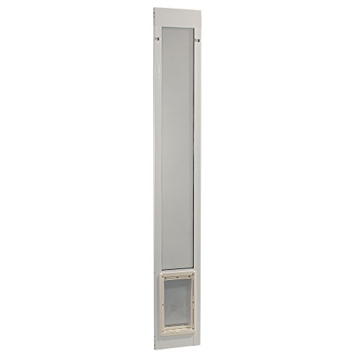 Ideal Pet Products 80' Fast Fit Aluminum Pet Patio Door, Medium, 7' x 11.25' Flap Size, White