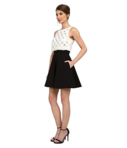 Aidan Popover Beaded Womens With Solid ivory Skirt Black Top Mattox r6qwCr
