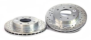 BAER 03215-020 Sport Rotors Slotted Drilled Zinc Plated Front Brake Rotor Set - Pair