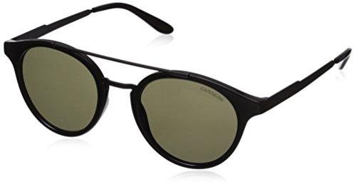 Carrera Ca123s Round Sunglasses, Shiny Black Matte Black/Brown, 49 mm
