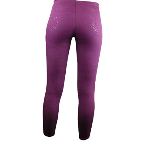 1bd51b29212b9 Ladies Womens Coloured Diamante Denim Leggings Stretchy Purple Jeggings UK  14: Amazon.co.uk: Clothing