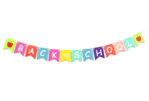 Back to School Hanging Sign Banner- First Day of School,Classroom Decor,Back to School Party Decorations by Firefairy