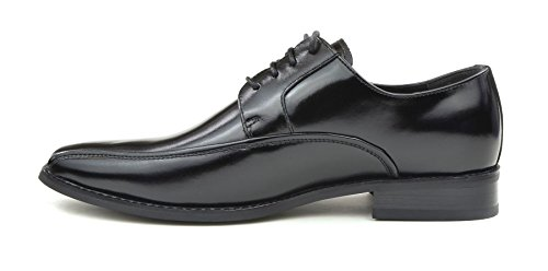 Moda Di Raza Mens Oxford Dentelle Robe Chaussures Élégant Branché Lumière Brillance Noir-vi