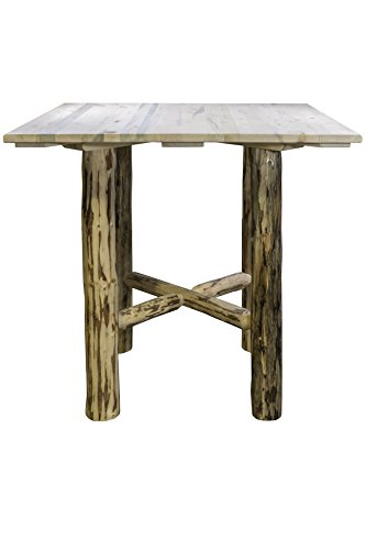 Montana Woodworks MWCTNV Coffee Table with Shelf, Clear Lacquer Finish (Wayfair Pub Table)