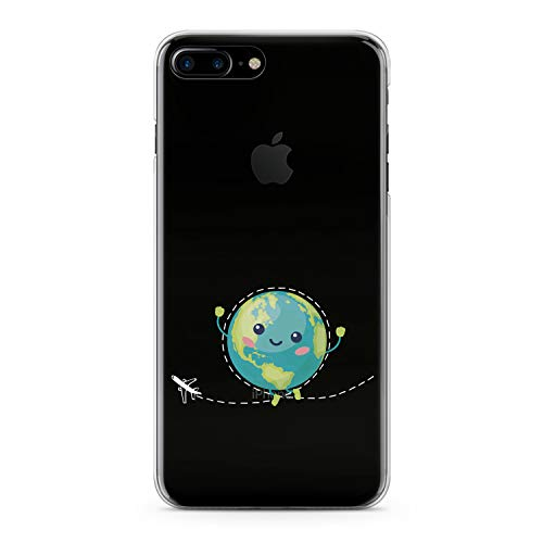 Lex Altern iPhone Apple TPU Case Xs Max Xr 10 X 8 Plus 7 6s 6 SE 5s 5 Clear Kawaii Planet Earth Cover Print Transparent Kids Blue Flexible Girl Gift Green Protective Women Traveling Silicone Pattern]()