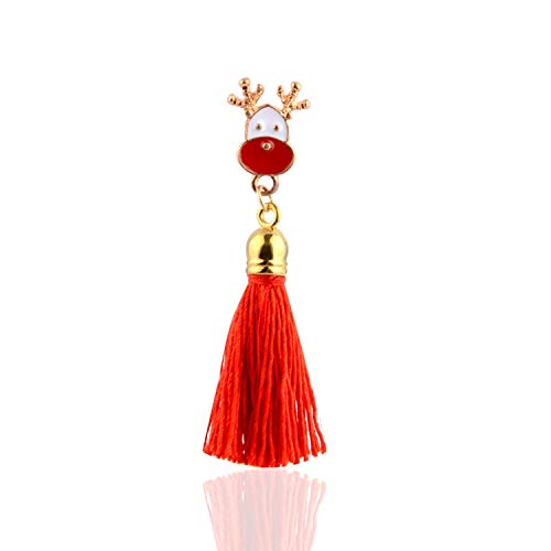 Newly Gift Fashion Christmas Earring Santa Claus Gift Box Christmas Tree Elk Antlers Star Crystal Tassel Earrings Women Christmas Gift,X0010-2