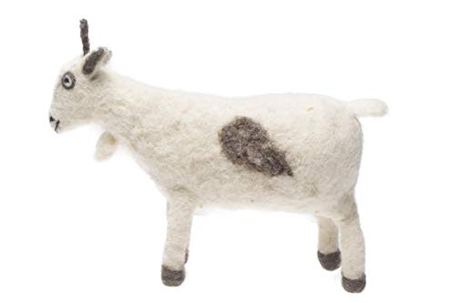 De Kulture Works Hand Made Felt Goat Ornament 3x8x4 (LWH) ()