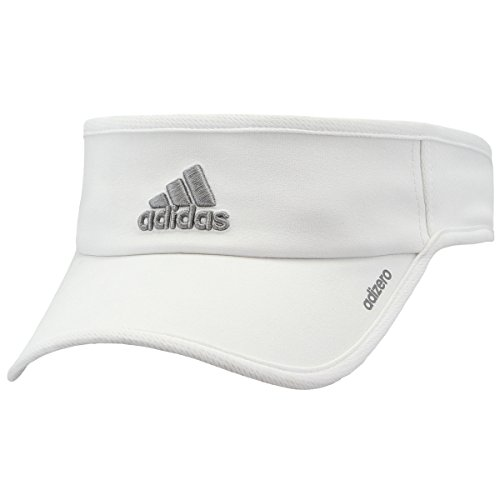 Baseball Golf Visor - adidas Women's Adizero II Visor, White/Light Onix, One Size