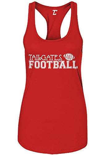 Tailgates and Football - Sports Party Women's Tank Top (Red, X-Small)