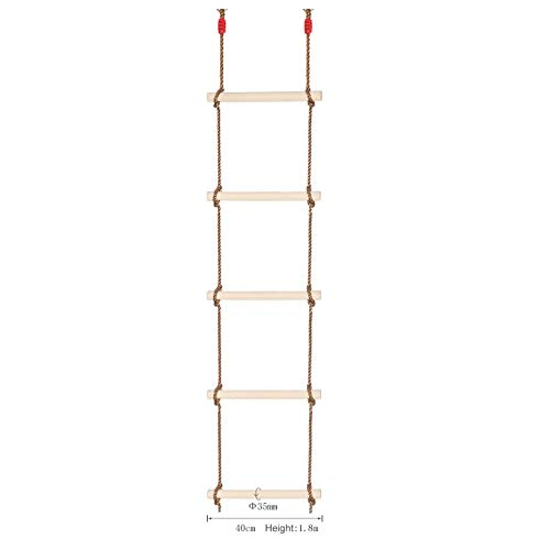 GYZ Climbing Ladder Wooden Children Climbing Ladder/Swing/Outdoor Sports Toys Amusement Equipment-1.8M Outdoor Toys by GYZ (Image #1)
