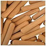 WIDGETCO 5/16'' x 2'' Wood Dowel Pins, Multi-Groove