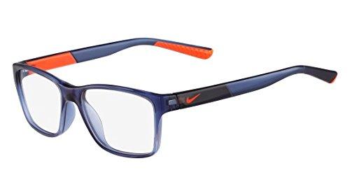 NIKE Eyeglasses 5532 411 Crystal Gym Blue/Hyper Crimson 49MM