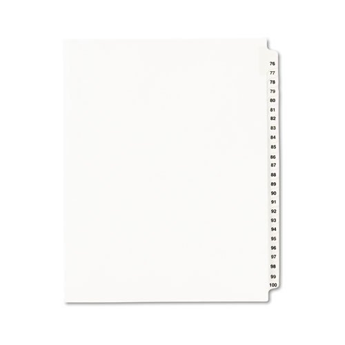 Avery Legal Dividers, Standard Collated Sets, Letter Size, Side Tabs, 76-100 Tab Set (01333)