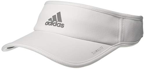 Tennis Visor Womens - adidas Women's Superlite Performance Visor, White/Light Onix, One Size