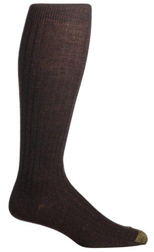 Gold Toe Men's Windsor Wool-Blend Over-the-Calf Dress Sock - 10-13 / Shoe: 6-12.5 - Brown (Pack of - Hosiery Dress Calf
