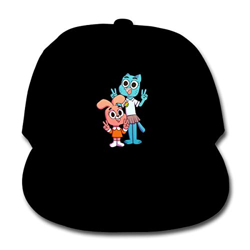 Nanazang The Amazing World of Gumball Adjustable Fashion Boy's Girl's Baseball Caps Casual Summer Black -