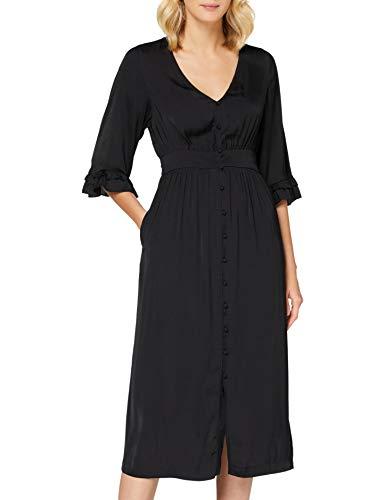 Scotch & Soda dames jurk Midi length v-neck dress with ruffles