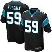 picture of Youth Carolina Panthers Luke Kuechly Nike Black Team Color Game Jersey