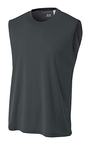 A4 Men's Cooling Performance Muscle Tee, Graphite, Small ()