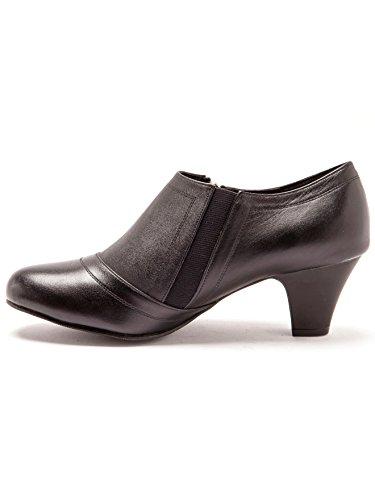 Pediconfort Confort Noir Boots Largeur Zippées En Cuir UnrUWTO