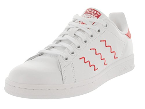 Price comparison product image Adidas Women's Stan Smith W Originals Ftwwht/Ftwwht/Colred Casual Shoe 11 Women US