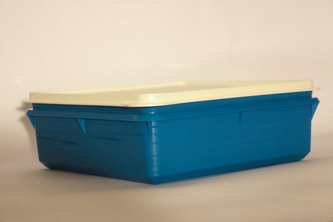 Tupperware Snack N Store storage dishes with airtight lid (blue, white cover, 2.5L) -  Tuperware