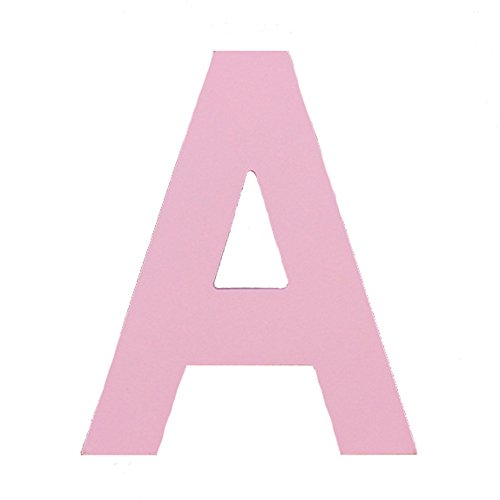 Aspire 3D Wooden Hanging Wall Letters Alphabet Wall Home Office Party Decoration-Pink Letter A-6 Inch