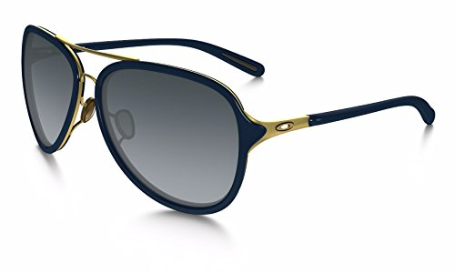 Oakley Women's Kickback OO4102-03 Aviator Sunglasses, Gold Satin, 58 - Oakley Sunglasses Aviator
