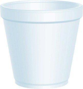 Dart 16MJ20 16 oz. Medium Squat Foam Food Container - 500 per (Squat Foam Cup)