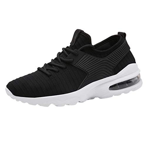 iHPH7 Sneaker Lightweight Slip on Mesh Shoes Quick Drying Aqua Water Shoes Athletic Sport Walking Summer Breathable Fashion Woven Running Shoes Men (44,Black)