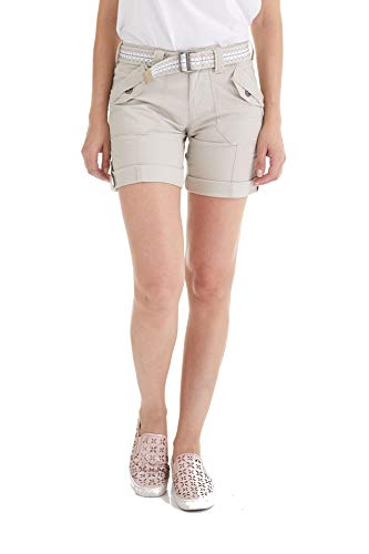 Suko Jeans Womens Convertible Stretch Poplin Bermuda Shorts 47050 Stone 14