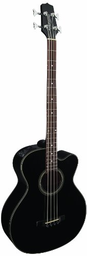 Takamine G Series GB30CE-BLK Jumbo Acoustic Electric Bass Guitar, Venetian Cutaway, Black