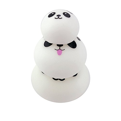 3 Size Cute Soft Squishy Kawaii Smiling Face Panda Bread Phone Charms Strap Keychain For Bag Cell Phone Car keys