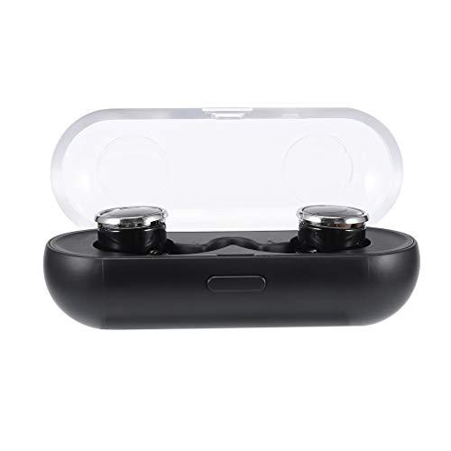 IslandseBluetooth Wireless Earbuds in-Ear Earphone Headphone Sports Headset (Black)