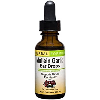 Amazon.com: All Natural Herbal Ear Drop Oil with Mullein, garlic – Alcohol Free, 1oz/30ml