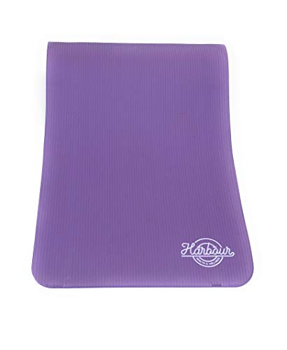 Harbour Health Wellness 1 2 Inch Extra Thick All Purpose Exercise Yoga Mat with Carry Strap