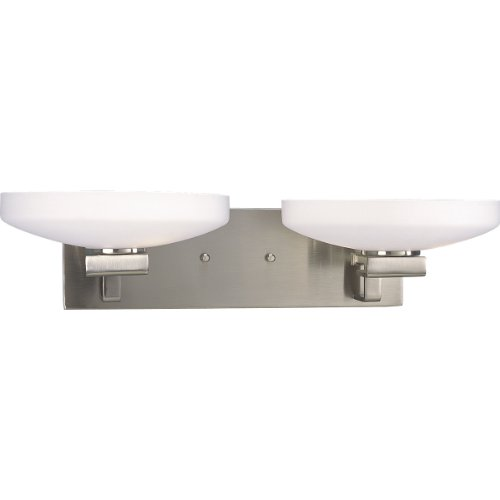 Progress Lighting P3150-09 4-Light Thomasville Bath Bracket with Etched Opal Glass, Brushed Nickel