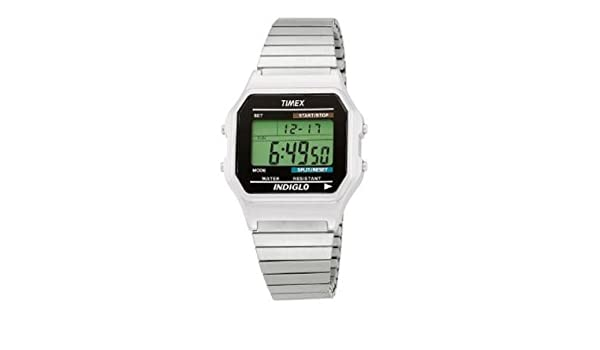bd37a1edd Timex T78587 Mens Classic Digital Silver-Tone Expansion Band Watch:  Amazon.ca: Electronics