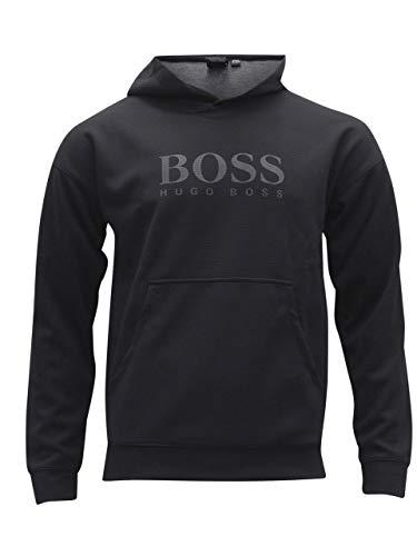 Hugo Boss Men's Fashion Long Sleeve Hooded Black Sweatshirt Sz: S