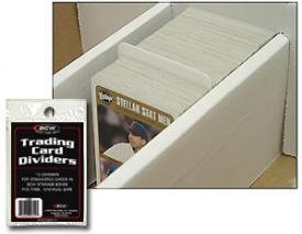 BCW Trading Card Dividers - 10 Dividers per Pack (Quantity of 25 Packs, 250 Cards Total)