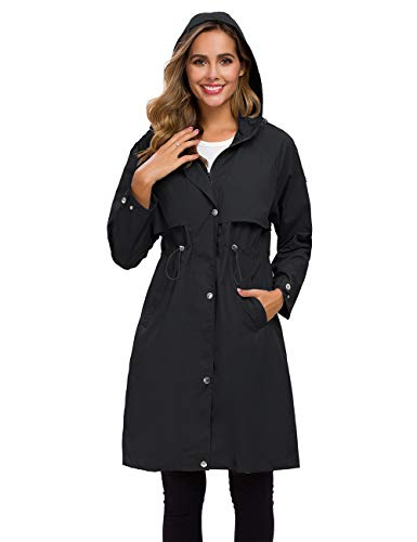 ladies hooded raincoat - 5